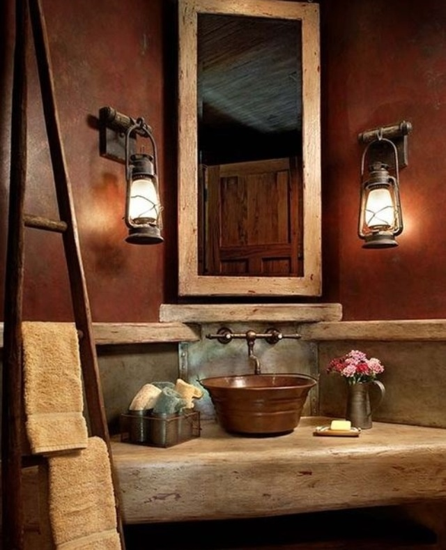 Rustic Bathroom Wall Ideas 152 best rustic bathrooms images on pinterest | rustic bathrooms