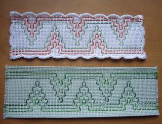 Swedish weaving bookmarks, good use of scrap monks cloth