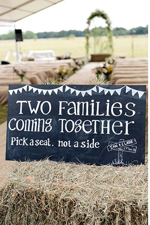 wedding signs - Read more on One Fab Day: http://onefabday.com/barn-wedding-by-dasha-caffrey/?utm_source=Subscriber Email List