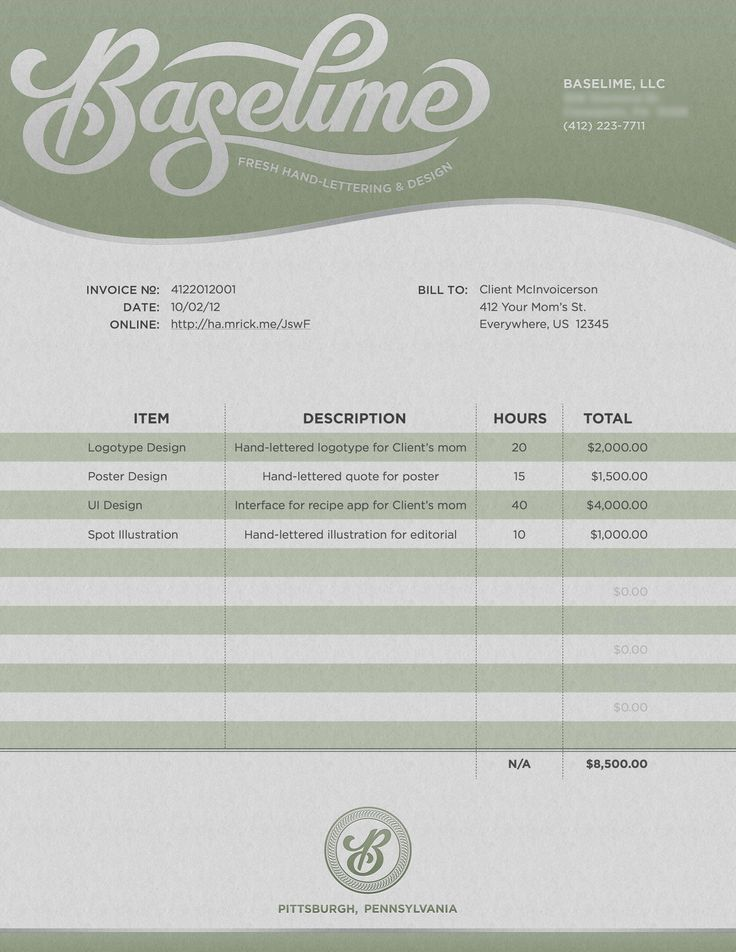46 best Invoice Design images on Pinterest Stationery, Badge - work invoice template free