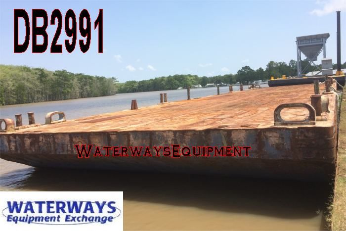 DB2991 - 120' x 30' DECK BARGE   WaterwaysEquipment com   Deck, Wood
