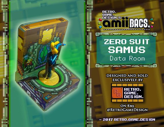 Super Smash Bros Zero Suit Samus AmiiBac (Data Room)