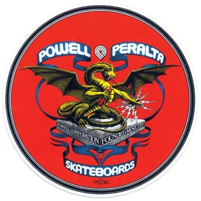 """Powell Peralta Banner Dragon 8"""" Skateboard Sticker.  Click on picture to purchase."""