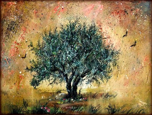 Olive tree - oil painting