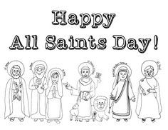 Look to Him and be Radiant: 12+ Ideas for Celebrating All Saints Day- All Saints' Day coloring page