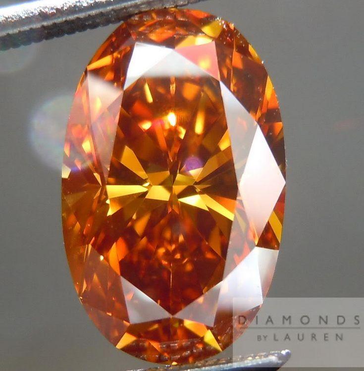 Orange Diamond Ring Pink Halo Pink Ring Colored