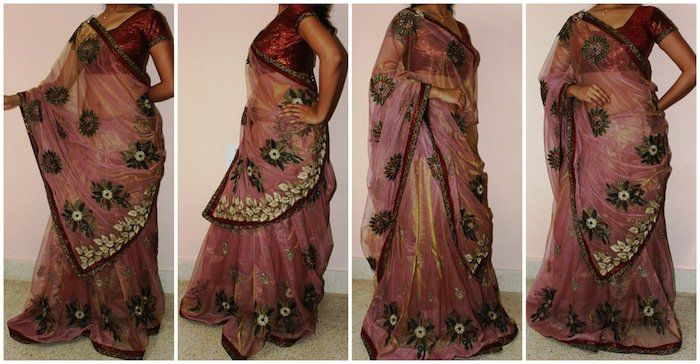 Lehenga Saree: This look is apt for wedding and traditional functions where you want to wear a lehenga but don't want to buy a new one. Nothing to worry with this drape you can make your heavily work saree look like a lehenga. Here the bottom draping will also change. So after doing 1 round saree wrap on your petticoat start making small-small pleats throughout your waist. Smaller the plates, more kalli your lehenga saree will have. Start under right hand and go back till your back making…