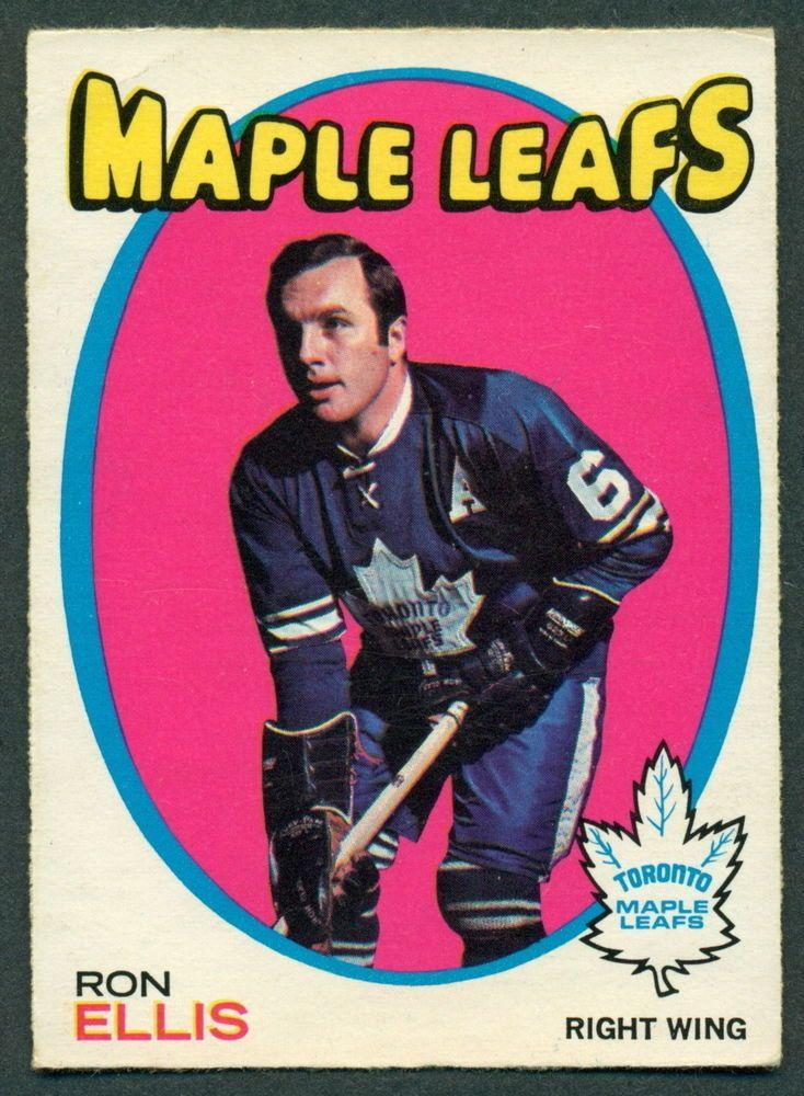 1971 72 Topps 113 RON ELLIS EX COND TORONTO MAPLE LEAFS CARD #TorontoMapleLeafs
