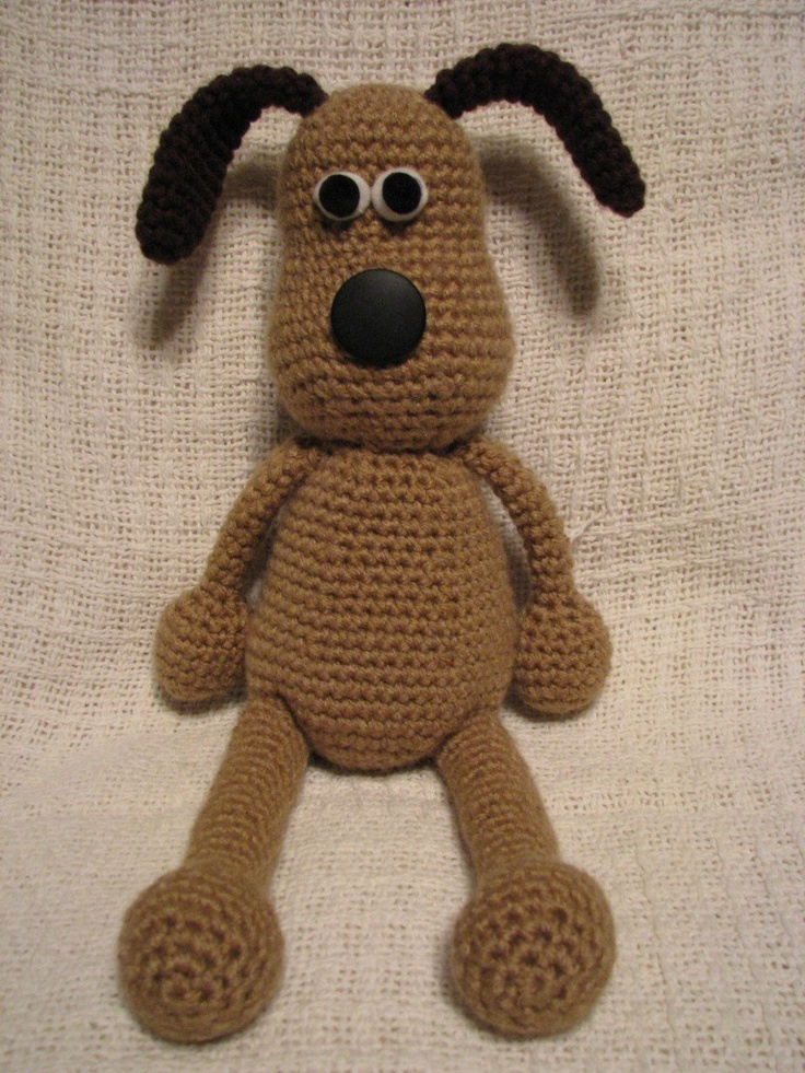 Crochet Gromit Plush from Wallace and Gromit. $20.00, via Etsy.