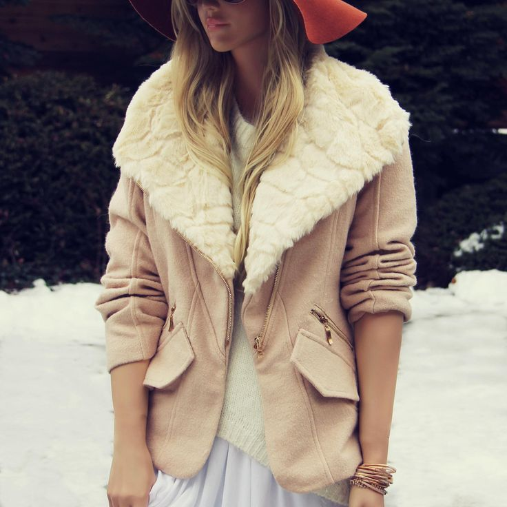 Northwest Blush Coat, Cozy Faux Fur Coats from Spool No.72.   Spool No.72