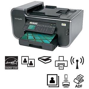 Lexmark Prevail Pro705 Wireless All-In-One (AIO) Inkjet Printer/Copier/Fax Machine/Scanner; w/Duplex & Network; Refurbished