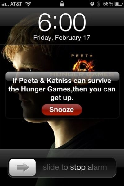 I would still push the snooze!!: Laughing, Ears Mornings, Alarm Clocks, The Hunger Games, Mornings Motivation, Funny, Hungergames, Mornings Workout, True Stories