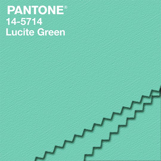 """""""Fresh and clarifying, cool and refreshing, Lucite Green has a minty glow. Light in weight and also in tone, Lucite Green seems almost transparent."""" - Leatrice Eiseman Executive Director, Pantone Color Institute® #NYFW #FashionColorReport #PANTONE"""