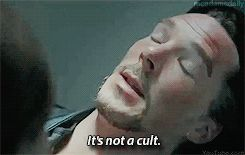 """""""Yeah, that sounds like a cult."""" - Doctor Strange"""