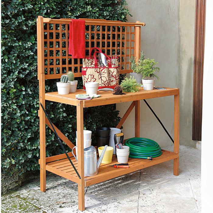Folding Garden Potting Bench