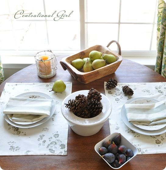 DIY Reversible Cloth Placemats & Napkins - Centsational Girl