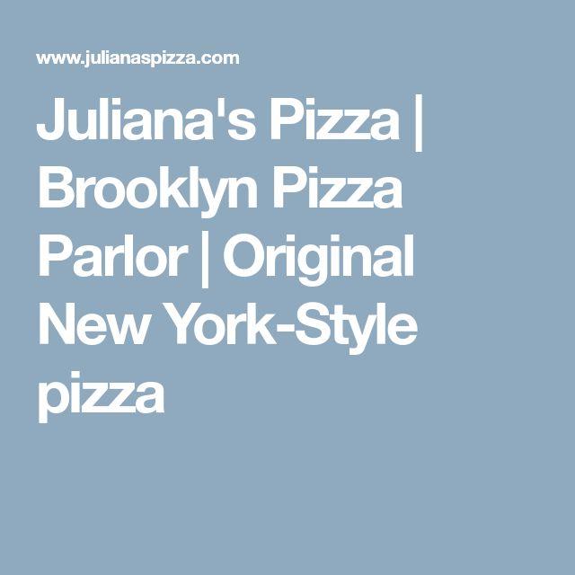Juliana's Pizza | Brooklyn Pizza Parlor | Original New York-Style pizza