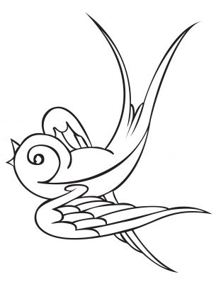 Bird Coloring Sheet. Coloring pages are a great source for embroidery patterns.