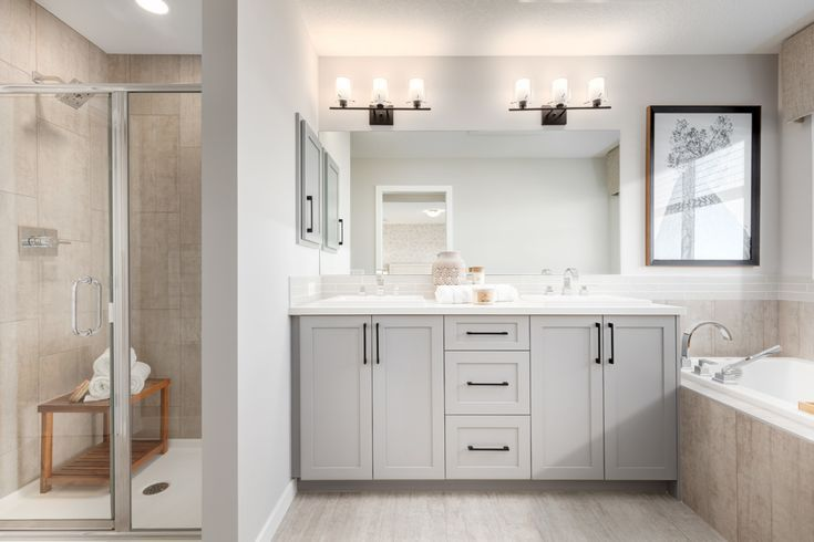 Love The Light Colors Of This Master Bathroom Cabinets And Tile