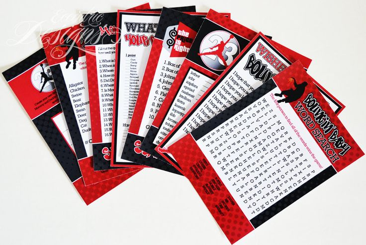 Air Jordan / Jumpman / Chicago Bulls / Michael Jordan - Baby Shower Games / Air Jordan Party / Air Jordan Party Theme / Air Jordan Party Ideas / Air Jordan Party Favors / Air Jordan Baby Shower / Air Jordan Baby / Air Jordan Baby Shower Theme