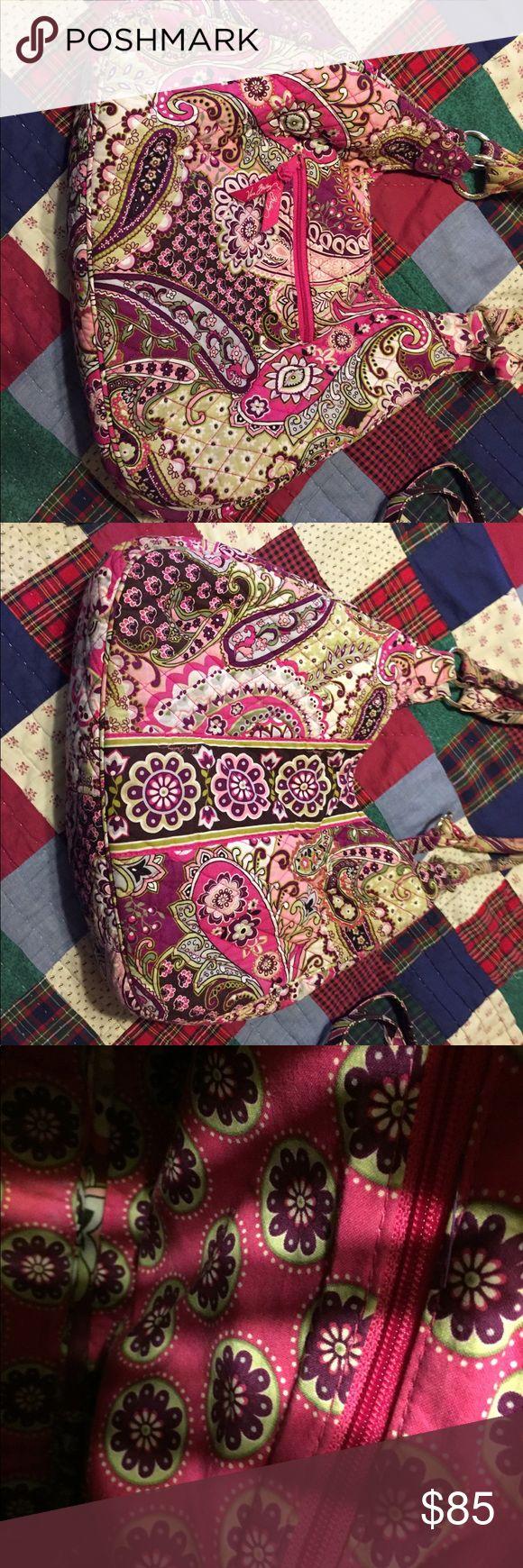 Vera Bradley large bag Very Berry Paisley, Pink flower