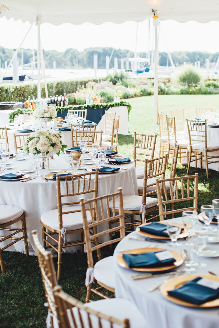 Photography : First Mate Photo Read More on SMP: http://www.stylemepretty.com/connecticut-weddings/greenwich/2016/03/18/classic-riverside-yacht-club-wedding-with-nautical-touches/