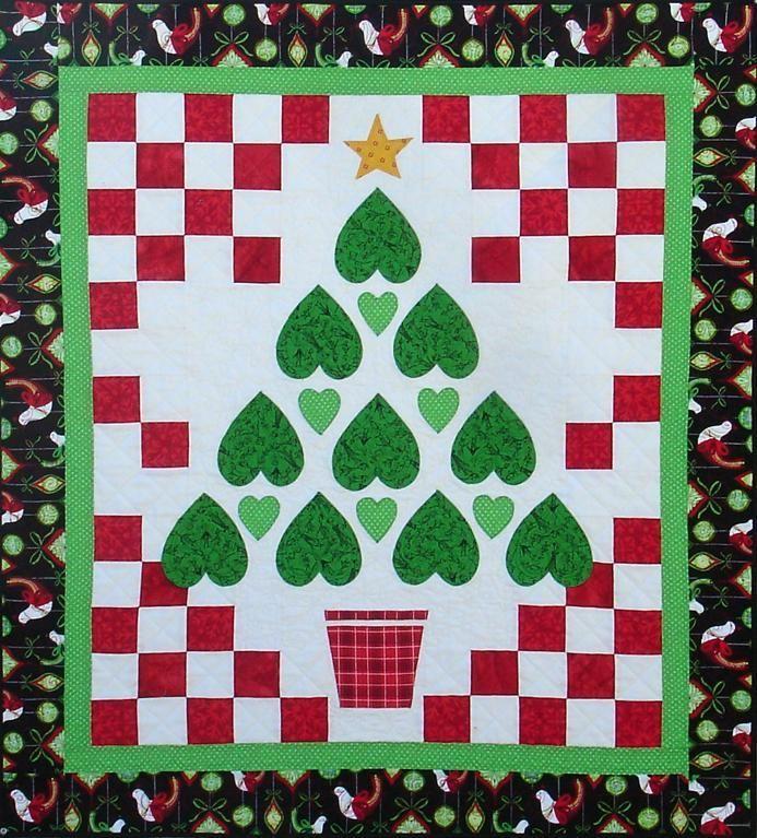 Christmas Tree Table Runner Quilt Pattern: 93 Best Quilts And Table Runners- Christmas Images On