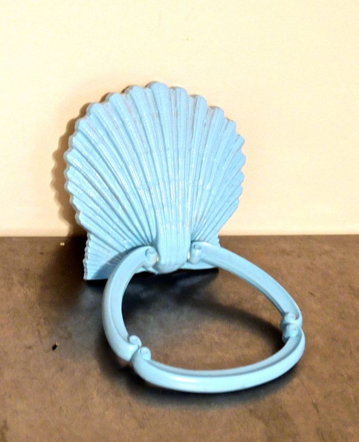 vintage shell towel bar - 1970s midcentury towel ring by mkmack on Etsy