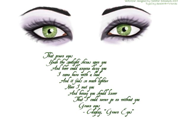 when blue and green eyes meet quote