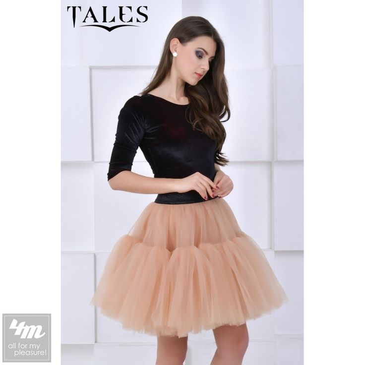 Tales «Юбка- пачка Lilo_2» (Бежевый) http://lnk.al/3w77  Красивая длинная юбка-пачка со скошенным низом.