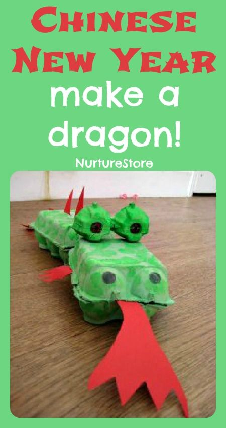 Chinese dragon craft - fun and easy to make.  Plus extra ideas for celebrating Chinese new Year with your kids