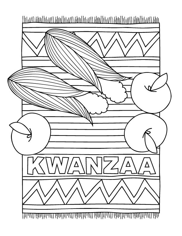 Kwanzaa coloring page from www.makeandtake.com