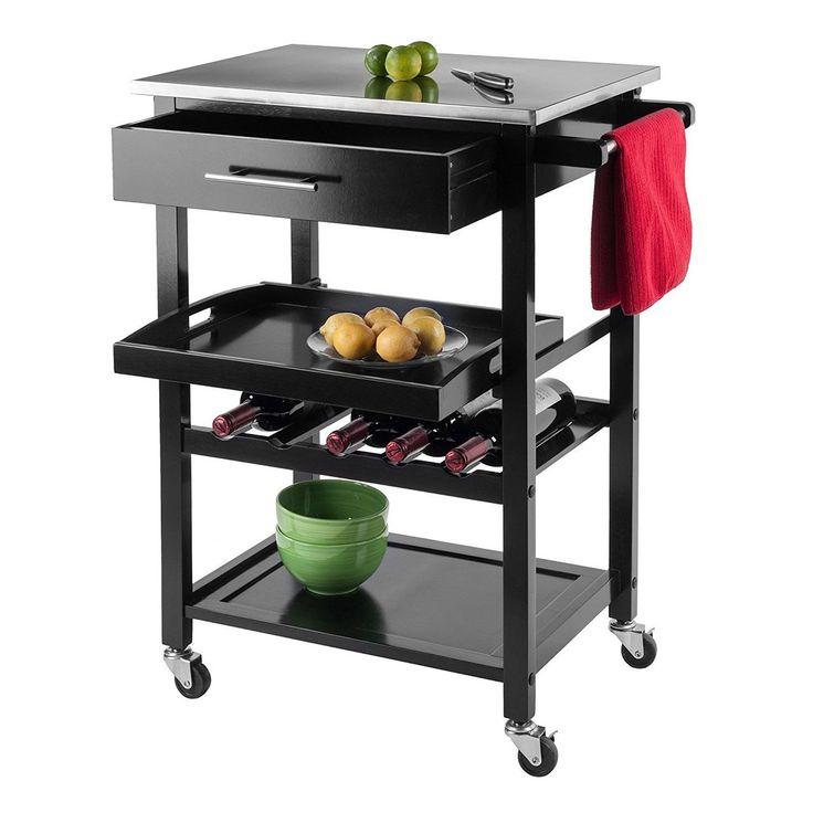 Anthony Kitchen Cart Stainless Steel Kitchen Cart 20326