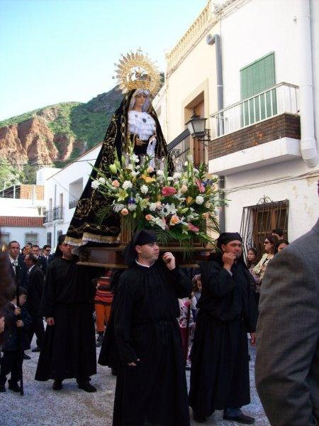 La Dolorosa. Imagen que nos acompaña durante toda la semana santa. Alboloduy. Alpujarra. Álmería