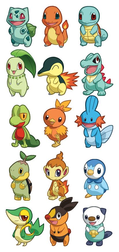 Pokemon Starter Sets 1-5 by cosplayscramble.deviantart.com on @DeviantArt