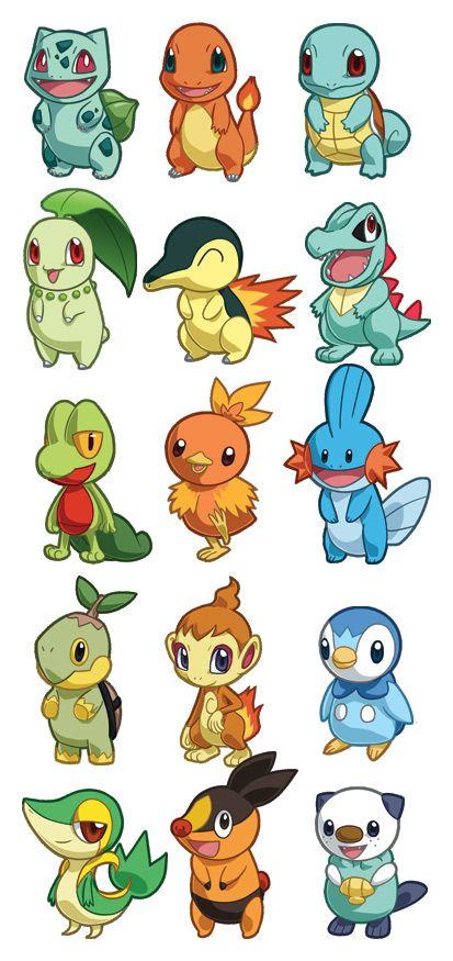 Pokemon Starter Sets 1-5 by cosplayscramble.deviantart.com on @DeviantArt