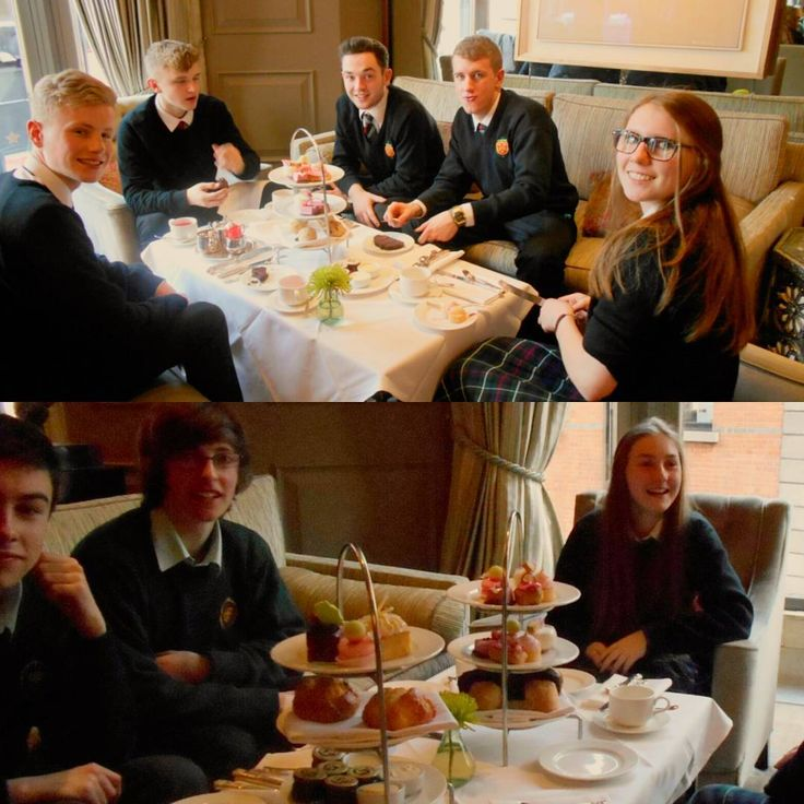 Afternoon tea at the Westbury Hotel. One of the many perks of studying Home Economics ♡ at The High School Dublin.