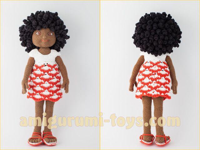 Вязаная крючком кукла Кристи. Авторская схема вязания.