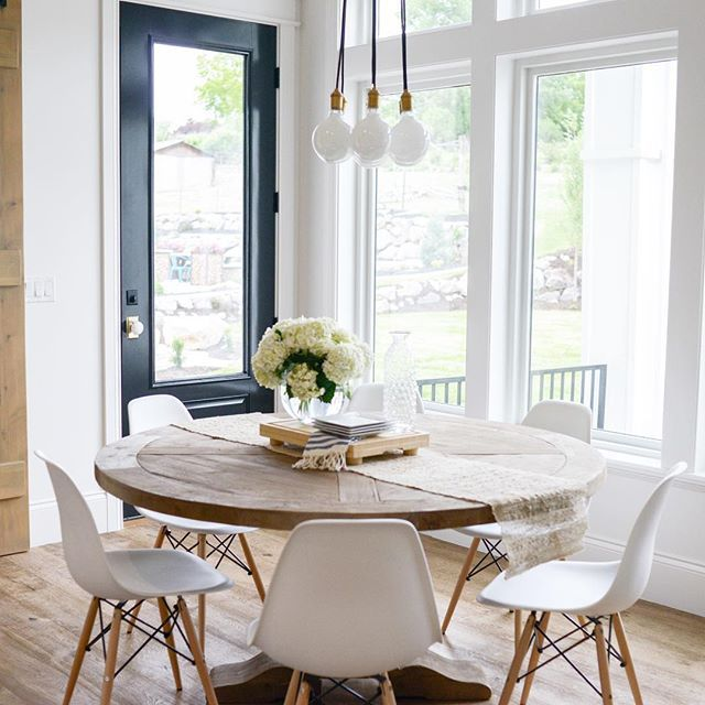 White Kitchen And Dining Room best 25+ round pedestal tables ideas on pinterest | pedestal