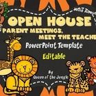 This Wild About Open House PowerPoint Template is perfect to use During Open House, Meet the Teacher Night, Parent Meetings or even the First Day of school.