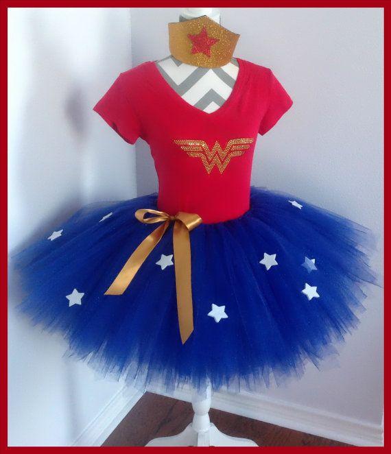 Wonder Woman inspired tutu set for Adult ladies.