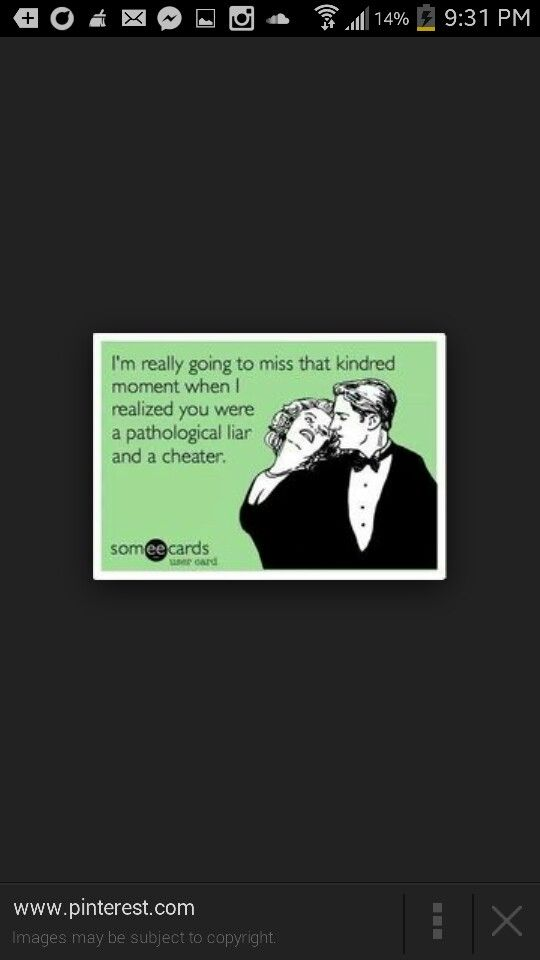 Dating a pathological liar and cheater