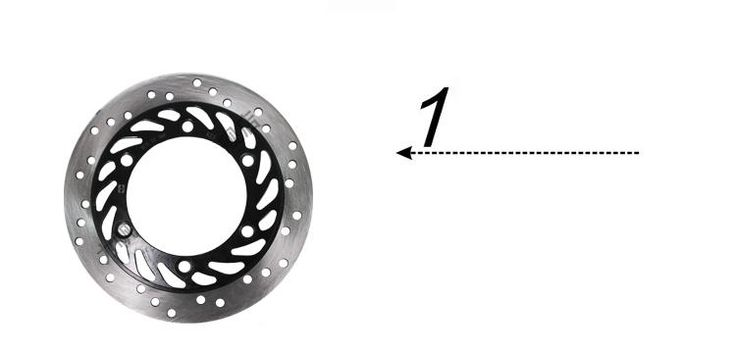 (40.00$)  Buy here - http://aihn7.worlditems.win/all/product.php?id=32564896364 - FRONT  DISC BRAKE FOR LF150-10B/KP150 PARTS NO. IS QJZ56311A0A00 LIFAN MOTORCYCLE BRAKE PAD/WHEEL