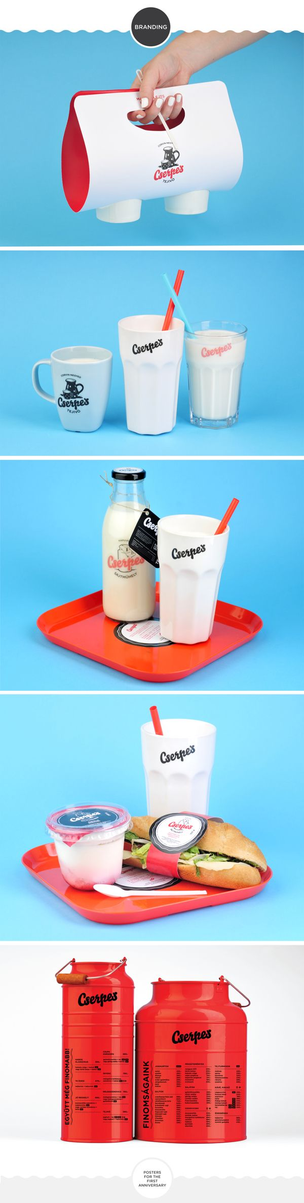 Cserpes rebranding / dairy products and milk bar / on Packaging Design Served