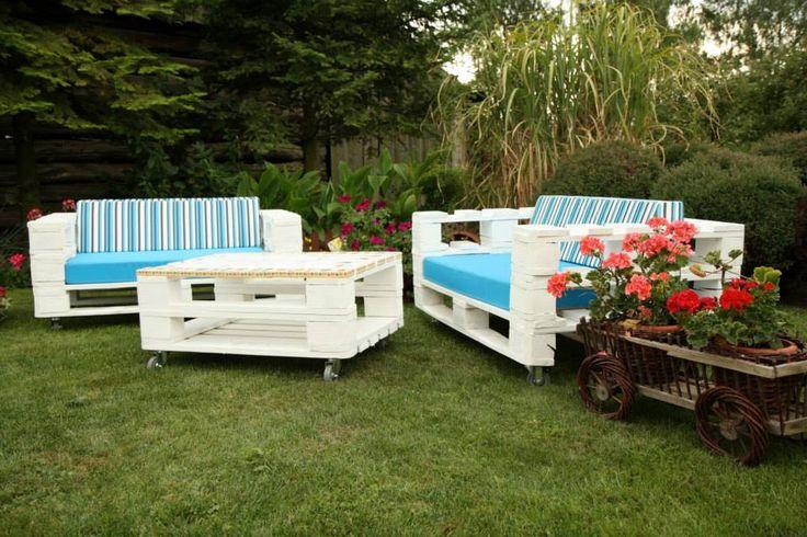 Záhradný nábytok z paliet