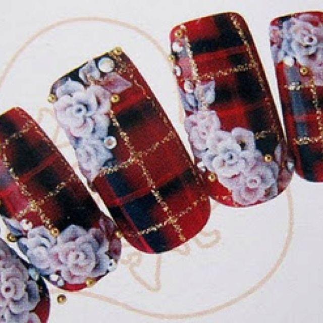 Japanese 3D nail art