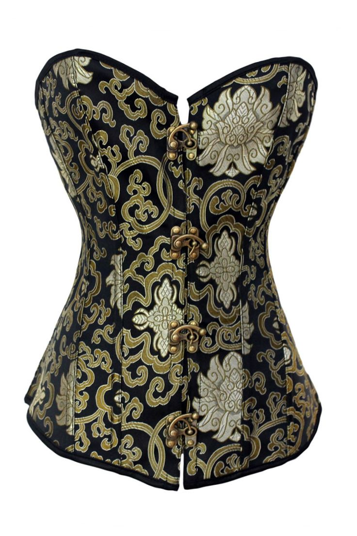Women Sexy Queen Gothic korse steampunk corset female Green bustier clasp lace corsage underbust lingerie clothing corpete 5325