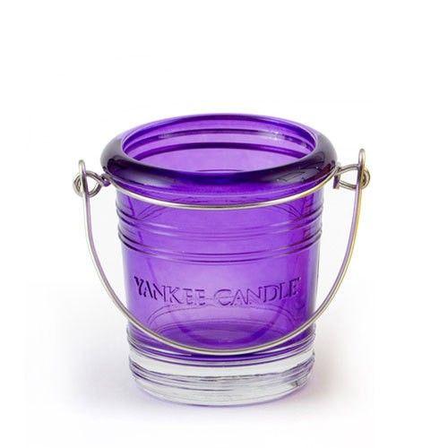 Yankee Candle Bucket Votive Holder Purple