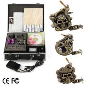 3 Tattoo Guns Professional Tattoo Kits Complete Kit Set