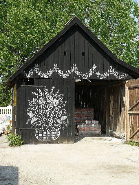 Folk art by paulbrannan, via Flickr I like this barn.